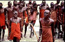 Masai Moran Warriors dancing