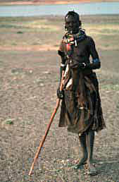 Pokot woman in the desert